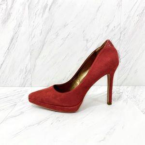 Sam Edelman- Celia Red Suede Heels Size 6 M.